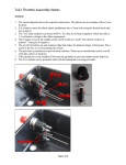 Tx21 Throttle Assembly Notes
