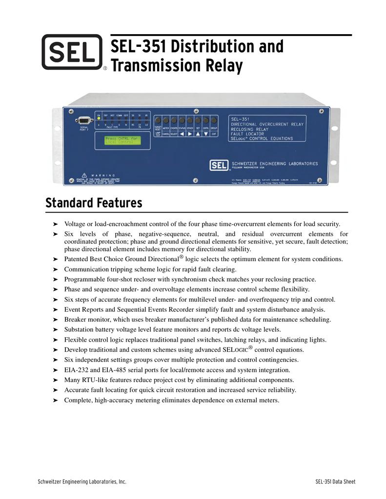 Schweitzer SEL-2030 Communication Processor 85-264v-ac