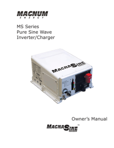 MS Series Owner`s Manual