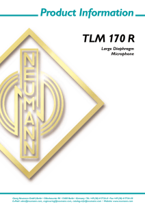 Product Information TLM 170 R