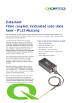 Datasheet Fiber coupled, modulated solid state laser – iFLEX