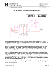 ac filter capacitors for pwm inverter