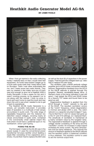 Heathkit Audio Generator Model AG-9A
