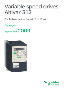 Variable speed drives Altivar 312