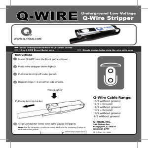 Q-WIRE Stripper Instructions - Q-Tran