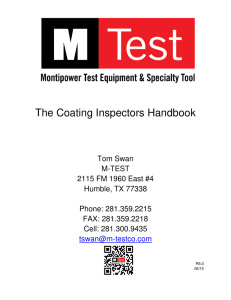 The Coating Inspectors Handbook - M