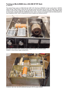 Turning an MLA-2500B into a GS-35B HF RF Deck