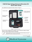 CS6102 High Voltage Galvanic Stimulator Kit Quick Start Guide