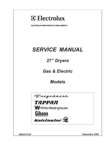 SERVICE MANUAL - Dryer Not Heating?