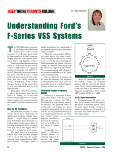 Understanding Ford`s F-Series VSS Systems Understanding