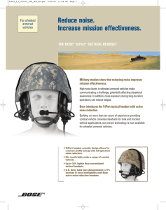 TriPort® Tactical Headset - Datasheet