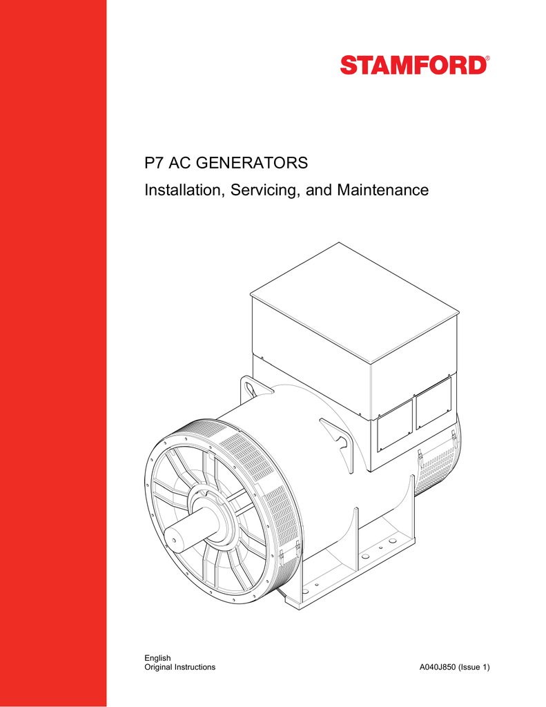 P7 AC GENERATORS Installation, Servicing, and Maintenancestudyres.com