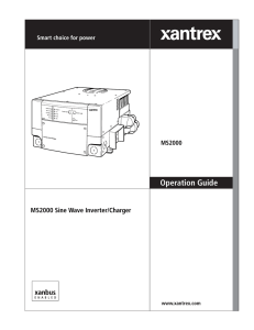 MS2000 Operation Manual