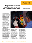 Proper use of clamp meters in commercial and residential settings