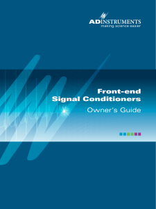 Front-end Signal Conditioners Owner`s Guide