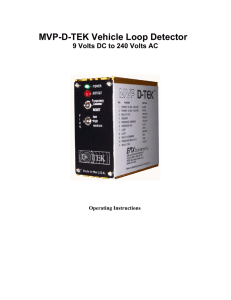 MVP-D-TEK Vehicle Loop Detector Operating Instructions