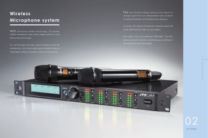 Wireless Microphone system - JTS