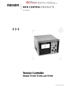 TC240, TC440, and TC640 Tension Controllers 20120