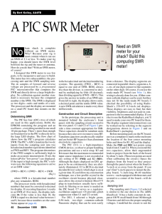 A PIC SWR Meter