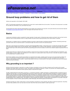 Ground loop problems and how to get rid of them