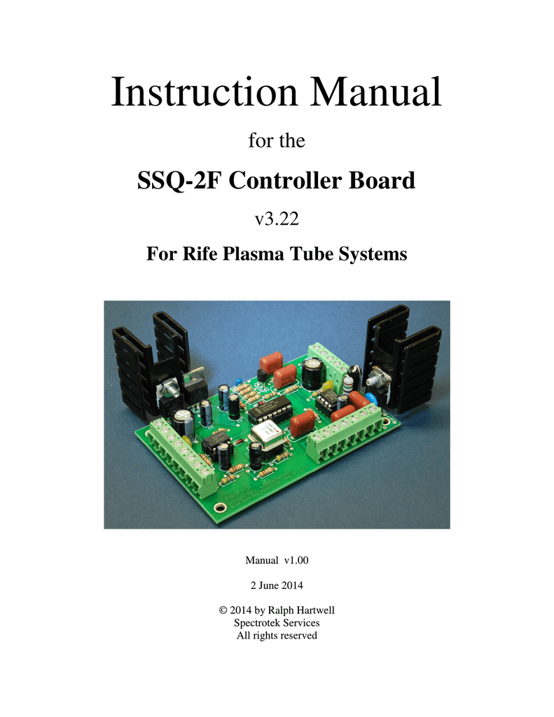 instruction manual ssq 2f controller board for the v3 22