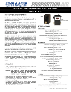 INSTALLATION & MAINTENANCE INSTRUCTIONS QB1T & QB2T DESCRIPTION / IDENTIFICATION