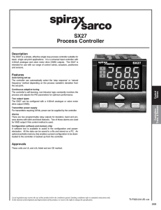 SX27 Process Controller Description