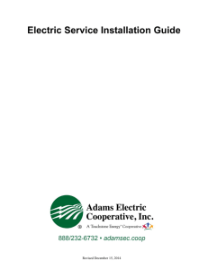 Electric Service Installation Guide