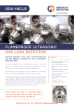 gdu-incus flameproof ultrasonic gas leak detector