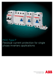 RCD Type F Residual current protection for single phase