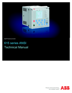 615 series ANSI Technical Manual