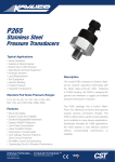 P265 Stainless Steel Pressure Transducers