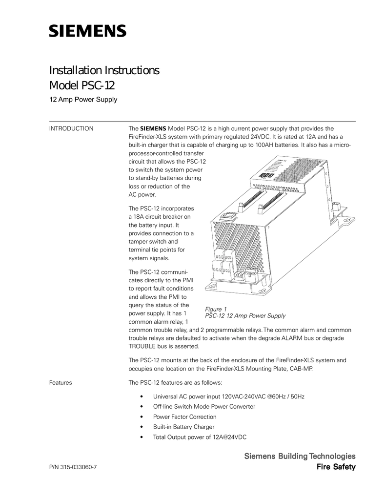 Installation Instructions Model Psc 12 2008 Isuzu Npr Fuse Box Basic Wiring Diagram
