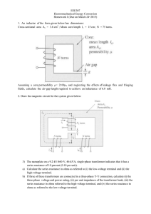 EEE307 Electromechanical Energy Conversion Homework I (Due