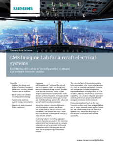 LMS Imagine.Lab for aircraft electrical systems