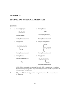 chapter 22 organic and biological molecules