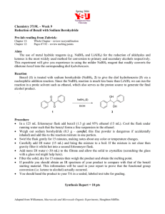 Chemistry 3719L – Week 9 Reduction of Benzil with Sodium