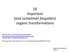 18 Important and sometimes forgotten) organic transformations