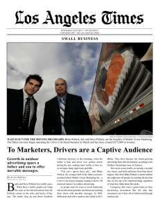 To Marketers, Drivers are a Captive Audience
