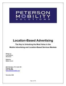 Location-Based Advertising - Mobile Marketing Association