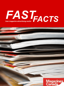 FAST FACTS how magazine advertising works