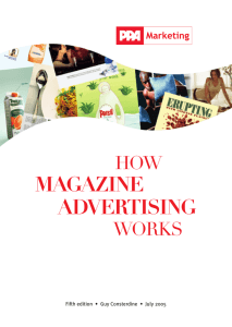 MAGAZINE ADVERTISING WORKS HOW