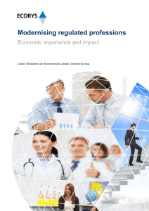 Modernising regulated professions