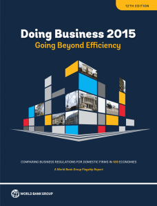 Ease of Doing Business 2015