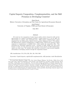 Capital Imports Composition, Complementarities, and the Skill