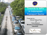 Towards to MRV in Indonesian Transport Sector