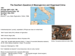 The Southern Question (il Mezzogiorno) and Organised