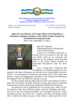 Address by the Minister of Foreign Affairs of the