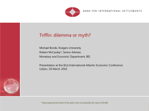 Triffin: dilemma or myth? - International Atlantic Economic Society