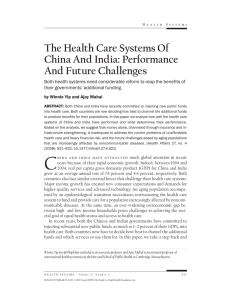 The Health Care Systems Of China And India